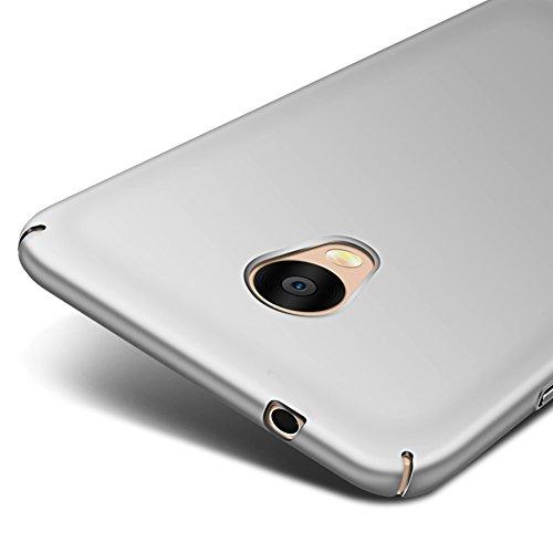 Argento Ultra Sottile Custodia Cover Case + Pellicola Protettiva Per Meizu M5s (Non compatibile con Meizu M5) Vooway® MS70312