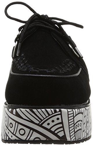 T.U.K. Pointed Stacked & Wrapped Creepers, Montantes Mixte Adulte Noir