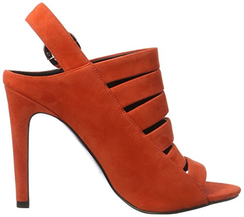 Kendall and Kylie Kkmia, Sandales Compensées femme Orange (Bright Coral 10582 KID SUEDE)