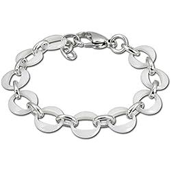 Amello bijoux en acier inoxydable - Amello bracelet en céramique à plusieurs anneaux blanc - bracelet en acier inoxydable pour femmes - ESAX02W
