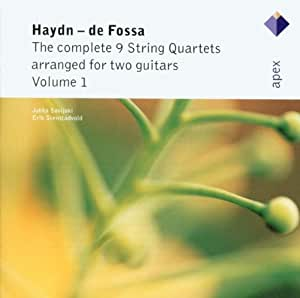 Complete 9 String Quartets arranged for two guitars Volume 1