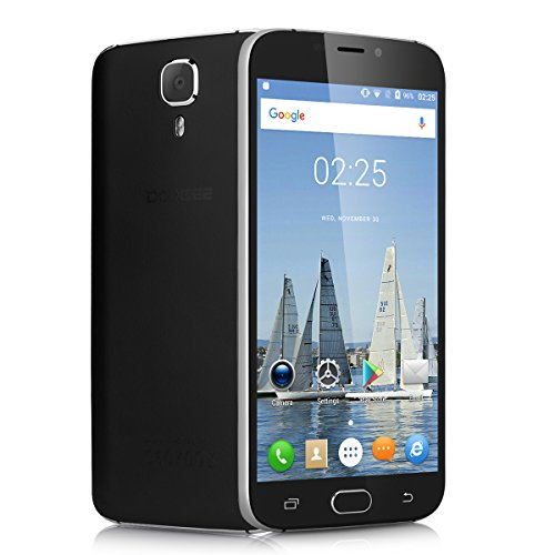 Doogee X9 Pro - 4G Lte Smartphone Libre Android 6.0 (Pantalla 5.5'', MT6737 Quad Core 64 Bits, Dual Sim, 16G, 2G Ram, Huella Dactilar, Smart Wake, Air Guestrue, Dual Id) (Negro)