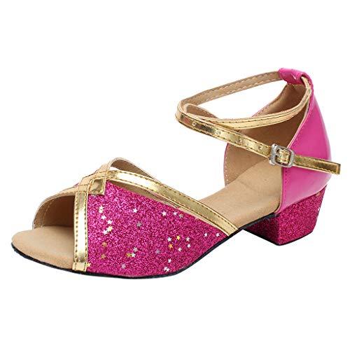 (Sannysis Kinder Latein Tanzschuhe Mädchen Prinzessin Schuhe Tanz Tango Latin Schuhe Sandalen Rutschfest Pumpen Schuh Standard/Latein/Ballsaal)