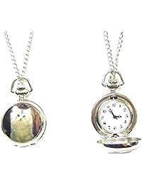 Reloj de bolsillo de gato para mujer regalo colgante de collar de reloj de lujo Chic