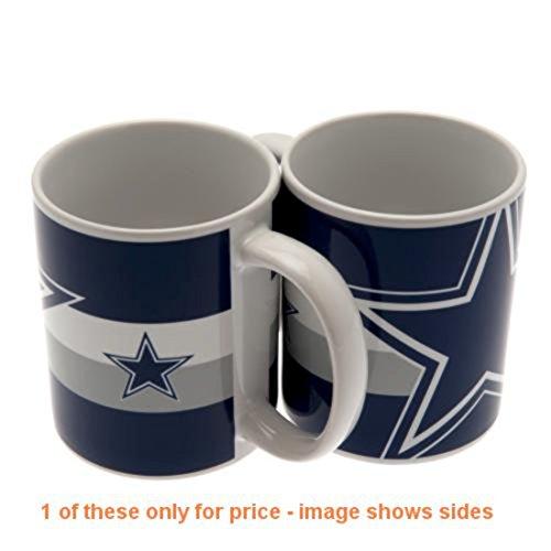 Dallas Cowboys Tasse BC Keramik-Tasse: ca. 9cm hoch, 8cm im Durchmesser 11Oz in einer Acetatbox (Dallas Cowboys Keramik)