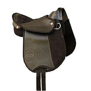 Ponyreitkissen Ponysattel mit Haltegriff, schwarz auch für Holzpferd KIDS Saddle 10
