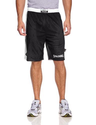 Spalding - Essential Reversible, pantalone corto da uomo Nero nero/bianco XXXXL