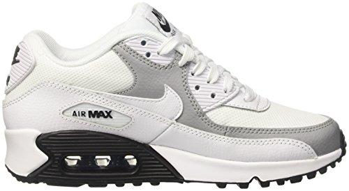 Nike Wmns Air Max 90 Prem, Entraînement de course femme Blanc Cassé (White/white/wolf Grey/black)