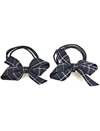 Beautiful Bow Triple Line High Quality Elastic Rubber Band Ponytail Holder For Little Girls And Women's (Set Of...