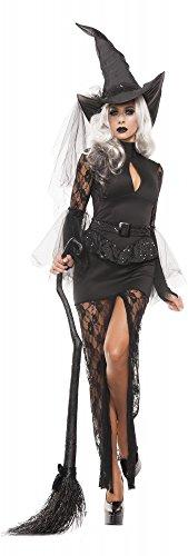 Hexe Glam Kostüm - shoperama Damen-Kostüm - Glamouröse Hexe, Größe:M