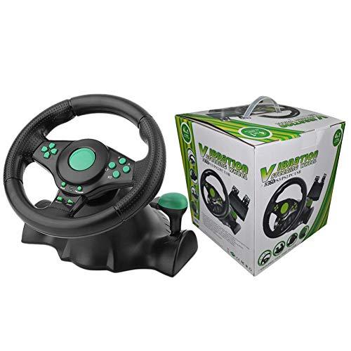 Spielrennen, simuliertes Fahren, Fahrkraft, Rennrad und Pedale, Vibrationsmotor für XBOX-360/PS3/P2/PC-Computerspiel, Lenkradsimulation für Rennfahrten (Simulator-spiele Für Xbox 360)