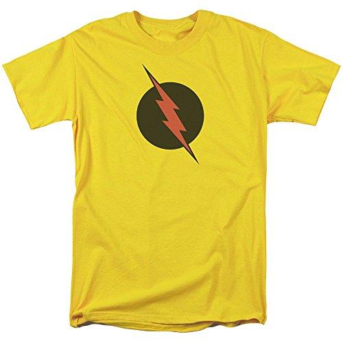 Justice League of America Reverse Flash Black Logo Adult T-Shirt