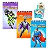 12 Mini Super Hero Notebooks - Party bag fillers - 3 Designs