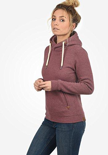 DESIRES VickyHood Damen Kapuzenpullover Hoodie Sweatshirt mit Fleece-Innenfutter aus hochwertiger Baumwollmischung Wine Red Melange (8985)