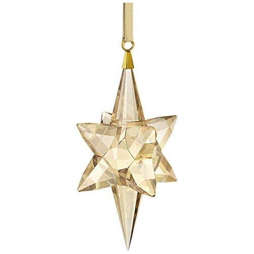 Swarovski stella ornamento, di colore oro, grande figura, cristallo, oro, 8.3x 4.3x 4.3cm