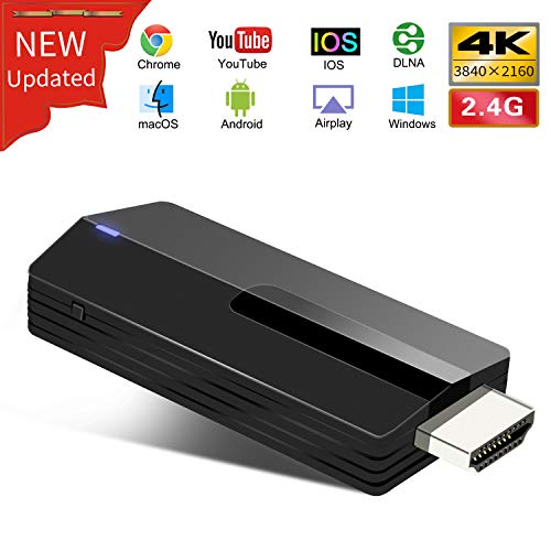 Yehua WiFi Display Dongle HDMI 4K Wireless 2.4G Display Adapter Unterstützung Miracast Airplay DLNA für Android/IOS/MacBook/PC auf TV Monitor/Projektor