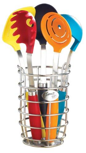 Fiesta 6Küchenutensilien-Set mit keramikpfeiler Fiesta Utensil Crock