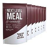 Runtime Next Level Meal Chocolat – substitut de repas complet - satiété prolongée, énergie, concentration et performances avec vitamines et nutriments