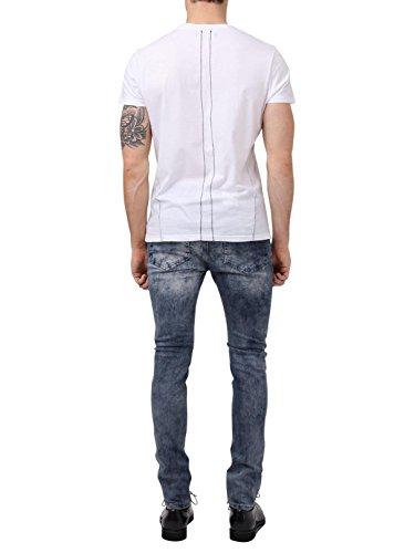 Religion Homme Crypt Washed Skinny Fit Jeans, Bleu Bleu