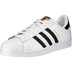 adidas Superstar, Zapatillas de deporte para Hombre, Blanco (Ftwr White/Core Black/Ftwr White), 42 EU