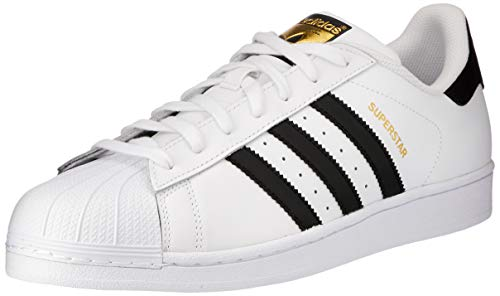 adidas Unisex-Erwachsene Superstar Low-Top, Weiß (Ftwr White/Core Black/Ftwr White), 47 1/3 EU Box-grain-leder