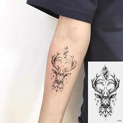 Oottati Kleine Nette Temporäre Tattoos Aufkleber (2 Blätter) Hirsch - Hirsch Net