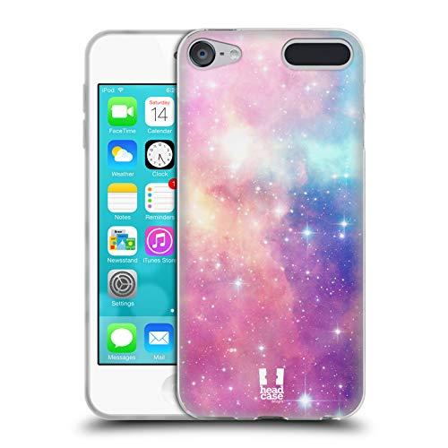 Head Case Designs Magenta Und Blau Galaxie Pastell Soft Gel Hülle für Apple iPod Touch 6G 6th Gen - Touch Apple 64gb Ipod Mp3-player