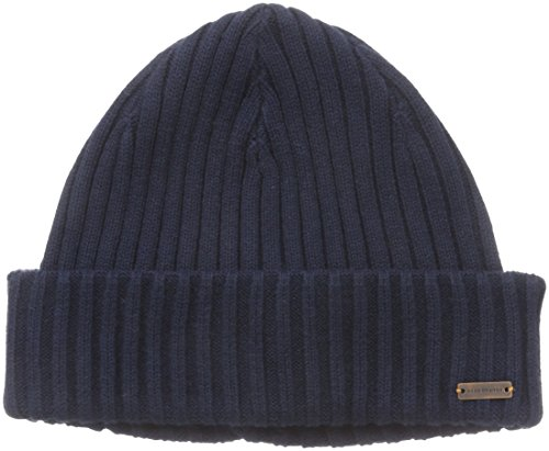 BOSS Orange Men's Araffon Beanie, Blue (Dark Blue), One size