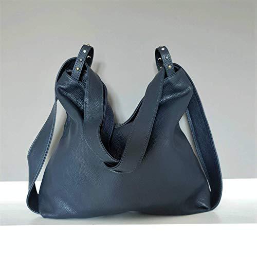 Damen lederrucksack tasche Blau handgemacht