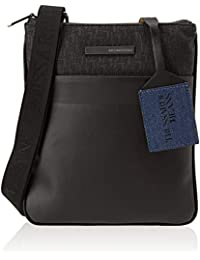 84a6449e59 Trussardi Jeans 71B00095-9Y099999, Borsa Messenger Uomo, Nero, 23x27x1 cm (W