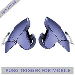 Nekrash Blue Shark Mobile Pubg Trigger- Controller Battle Royale Sensitive Shoot and Aim LT016BLG-Supports for All Android and iOS Phones-1 Pair-(Midnight Blue)
