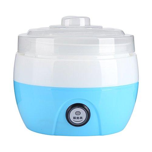 Yogurtera Electrica, 220 V 1L Hecho en casa Automático Fabricante de yogur Yogur Crema Eléctrica Máquina Hacedora de Yogur Herramienta de BRICOLAJE(Azul)