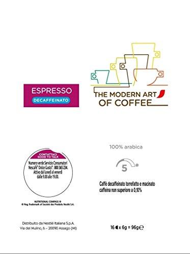 Nescafé Dolce Gusto Espresso Decaffeinato Caffè, 6 Confezioni da 16 Capsule (96 Capsule) 76