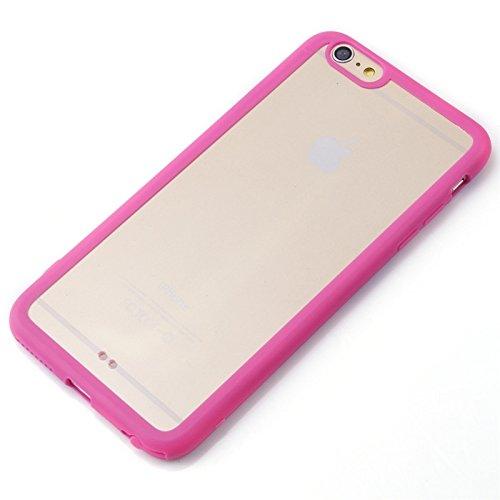 Für iPhone 6 / 6s Acryl Material Transparente Rückseite Shell Schutzhülle DEXING ( Color : Green ) Magenta