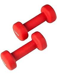 Ultrasport Haltères de gymnastique en néoprène avec poignée douce au toucher & fonction anti-roulement