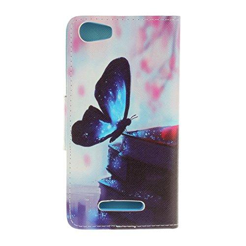 Voguecase® für Apple iPhone 7 Plus hülle,(Paris Turm 02) Kunstleder Tasche PU Schutzhülle Tasche Leder Brieftasche Hülle Case Cover + Gratis Universal Eingabestift Blau Schmetterling 15