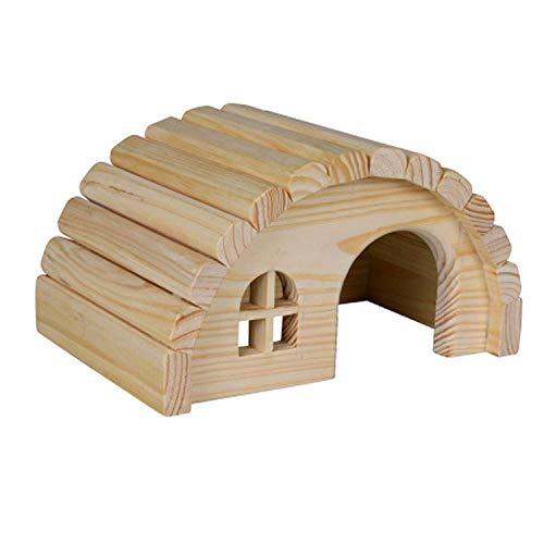 Per animale domestico ting casa in legno per topo criceto gerbille home 19x11x13 cm