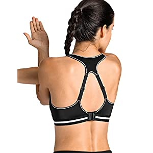 SYROKAN Women's Run Bra High Impact Sports Bra Quick Dry Max Support