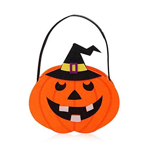 FOONEE Halloween Candy Staubbeutel, Kürbis Pirat Goodie Staubbeutel Ornament Props Partyzubehör Dekoration für Kinder Presents Trick oder Behandlung 3# 17x18cm