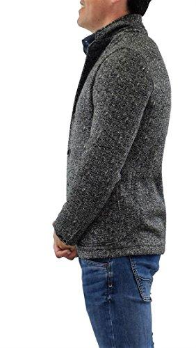 Woolrich PRINTED PILE BLAZER giacca uomo Medium Grey Mel