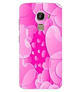 ColourCraft Heart Pattern Design Back Case Cover for LeEco Le 2