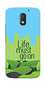 Kaira High Quality Printed Designer Back Case Cover For Motorola Moto E3 Power(Lifemustgoon)