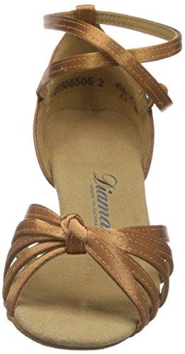 DiamantDiamant Damen Latein Tanzschuhe 109-087-379 - Scarpe da Ballo Donna Marrone (Braun (Dark Tan))