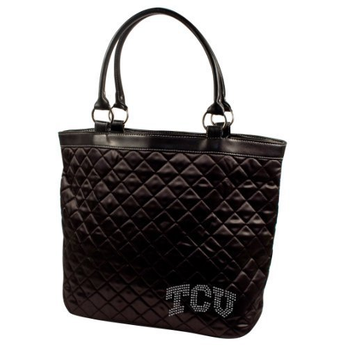 ncaa-texas-christian-horned-frogs-sport-noir-quilted-tote-bag-black-by-littlearth