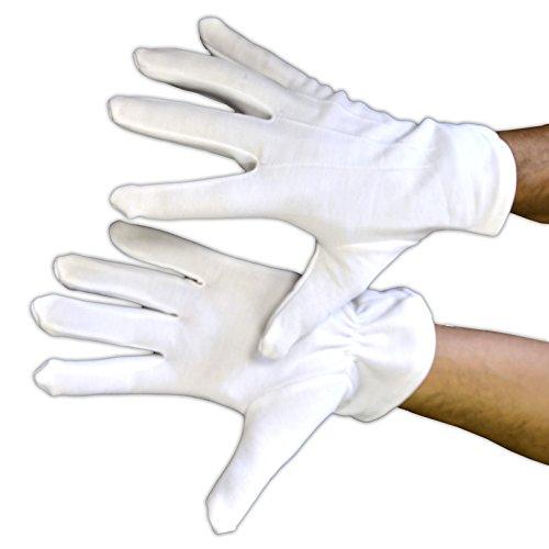 Aptafêtes–ac0815–guanti poliestere bianchi qualità professionale–dimensione uomo