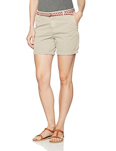 ESPRIT Damen Shorts 067EE1C004, Beige (Light Beige 290), 38