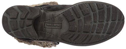 Josef Seibel Sandra 04 Damen Combat Boots Schwarz (917 titan)