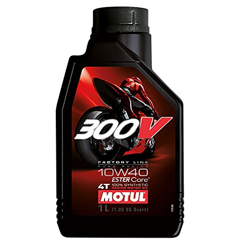 Motul 300 v 104118 line factory road racing 4 temps 10 w-40, 1 l pas cher