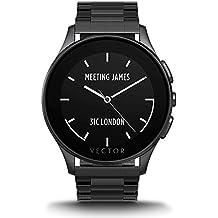 Vector Luna Smartwatch Spazzolato Nero con Bracciale in Acciaio, Nero