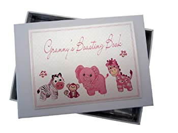 White Cotton Cards Granny's Boasting Book Photo Album (Tiny, Pink) 0